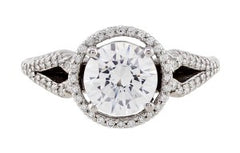 Ritani Bella Vita Halo Split Shank Engagement Ring