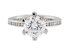Ritani Heart Prong Diamond Set Ring