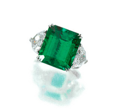 10.73ct Colombian emerald ring