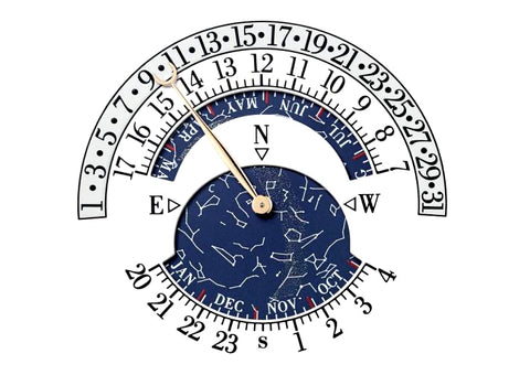 Grand Oeuvre Celestial Sky Chart and Sidereal Time Complication