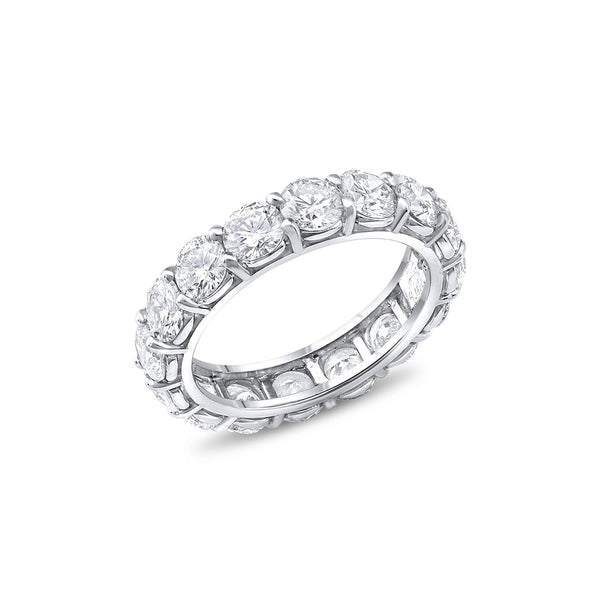 Riviera Collection Platinum 4.139ctw Diamond Eternity Band