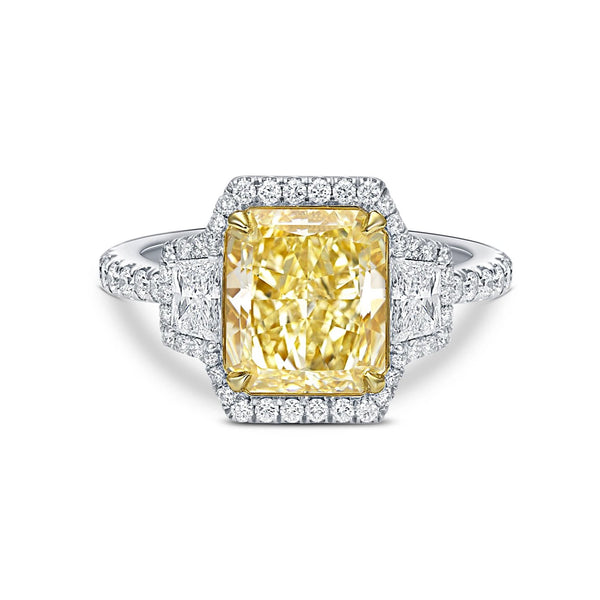 Fancy Yellow Princess Diamond Ring