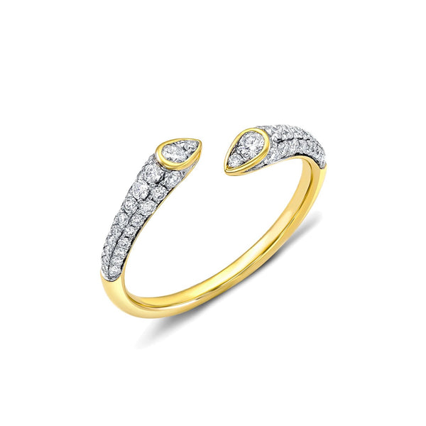 18 kt Yellow Gold Diamond Open Gap Band