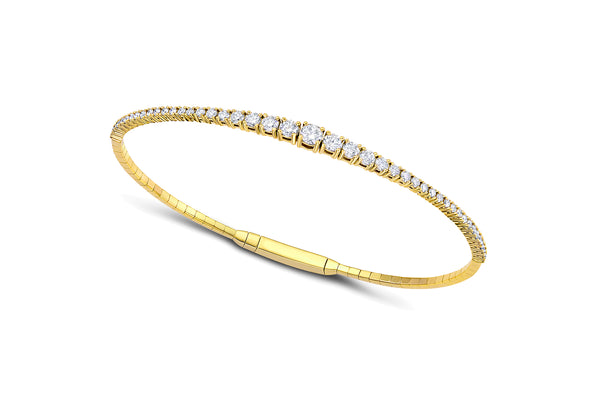 18kt Yellow Gold 1.25 ctw Diamond Bracelet