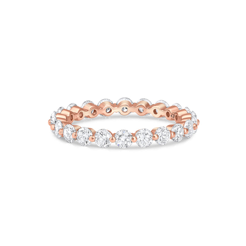 18kt Rose Gold 1.61ctw Diamond Eternity Band