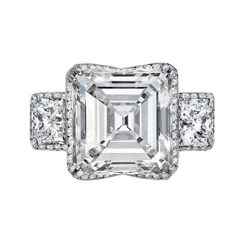 11.47ct Asscher Cut Diamond Ring set in Platinum
