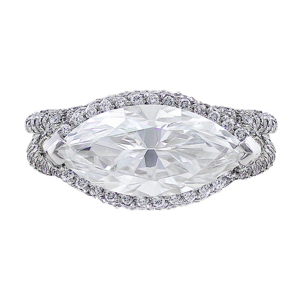 3ct Horizontal Marquise Diamond Ring