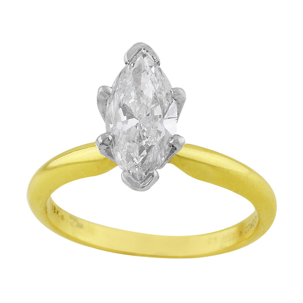 Estate 1.1ct Marquise Cut Diamond Ring
