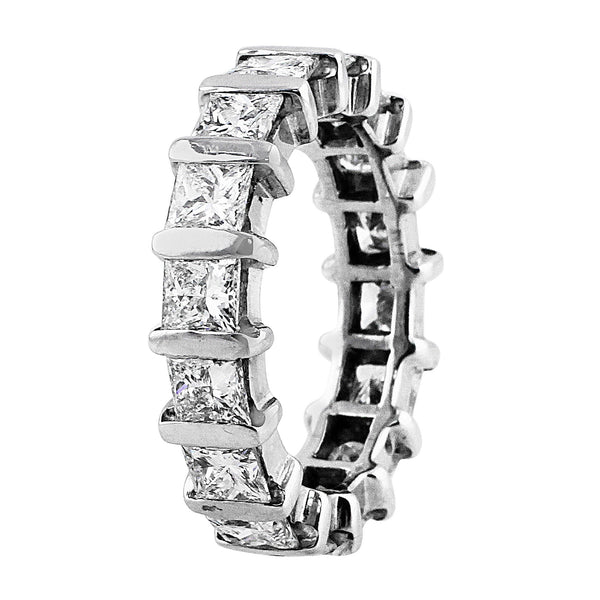 Estate Princess Cut Eternity Band