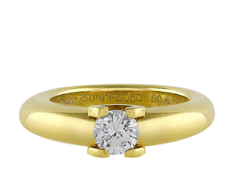 Estate Cartier Brilliant Cut Diamond Ring