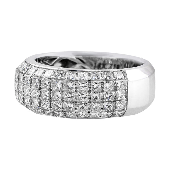 Princess Cut Diamond Ring in 18k white gold