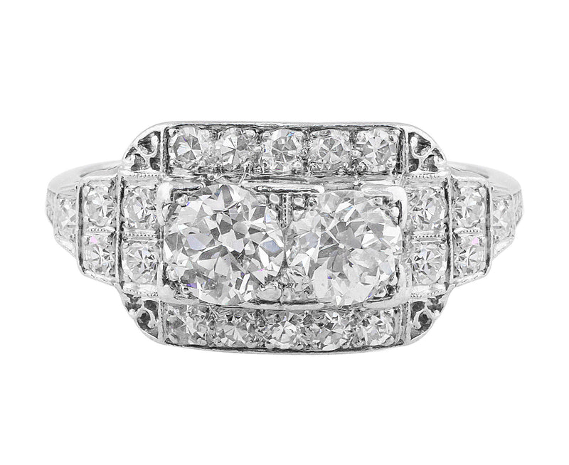 Estate Art Deco Platinum Diamond Ring