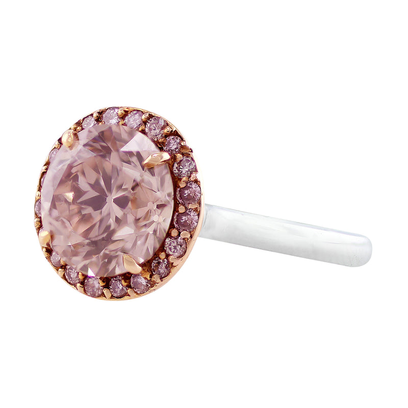 Pinkish Brown Diamond Ring, Riviera collection
