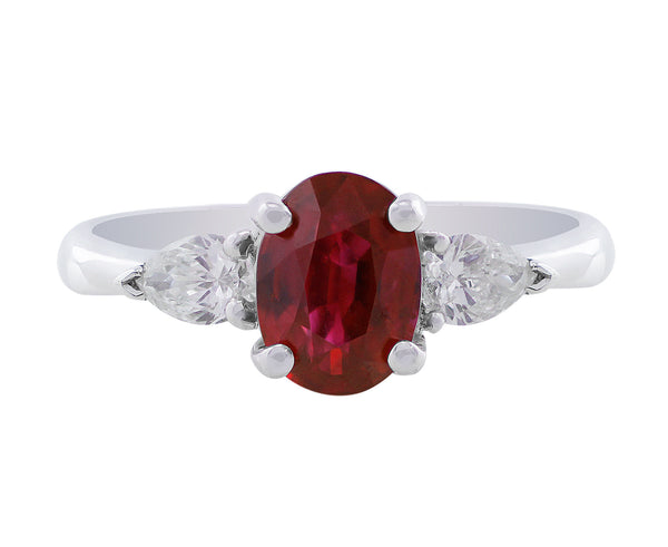 Estate 1.5ct Ruby Diamond Ring