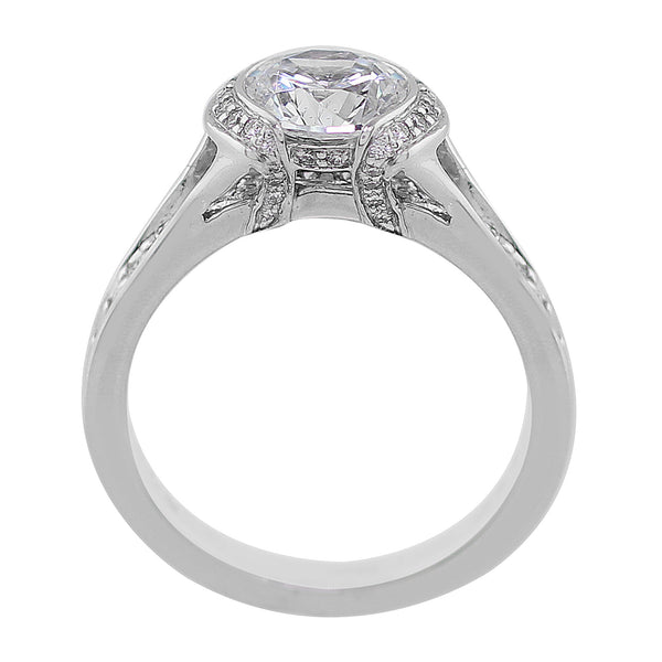 Partial Bezel Set Diamond Setting, Ritani