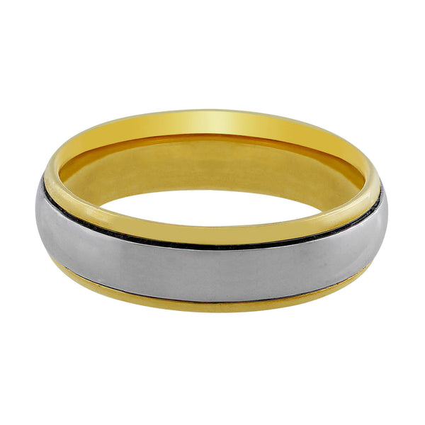 18kt Yellow Gold & Platinum Men's Band