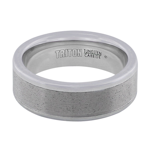 Men's White Tungsten Polished & Brushed Band