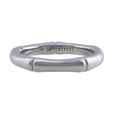 Carrera Y Carrera 18kt White Gold Band