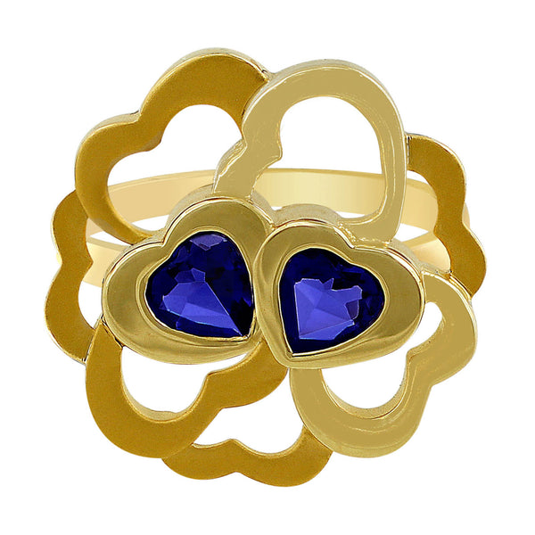 Carrera Y Carrera 18kt Yellow Gold Flower Iolite Ring