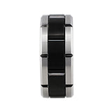 Black Cobalt 18k White Gold Band