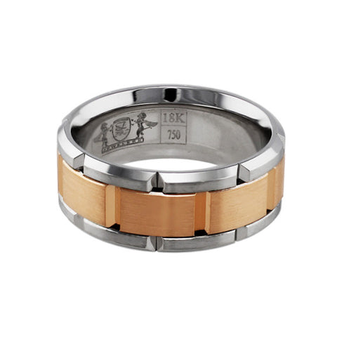 18k Rose & White Gold Link Band