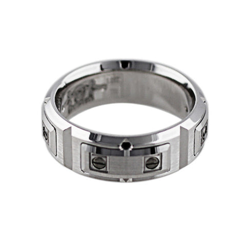 18k White Gold Screw Link Band