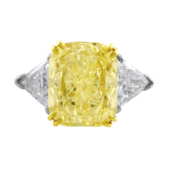 7ct Fancy Yellow Diamond Ring