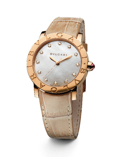 Bulgari Bulgari 18k Rose Gold Ladies Watch 101890