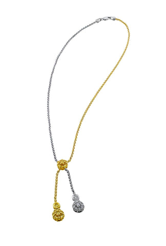 18kt White & Yellow Gold Dual Necklace