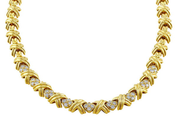 Estate Tiffany & Co. X Necklace Diamond
