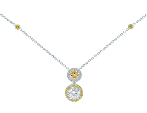 Fancy Yellow-Orange Diamond Necklace