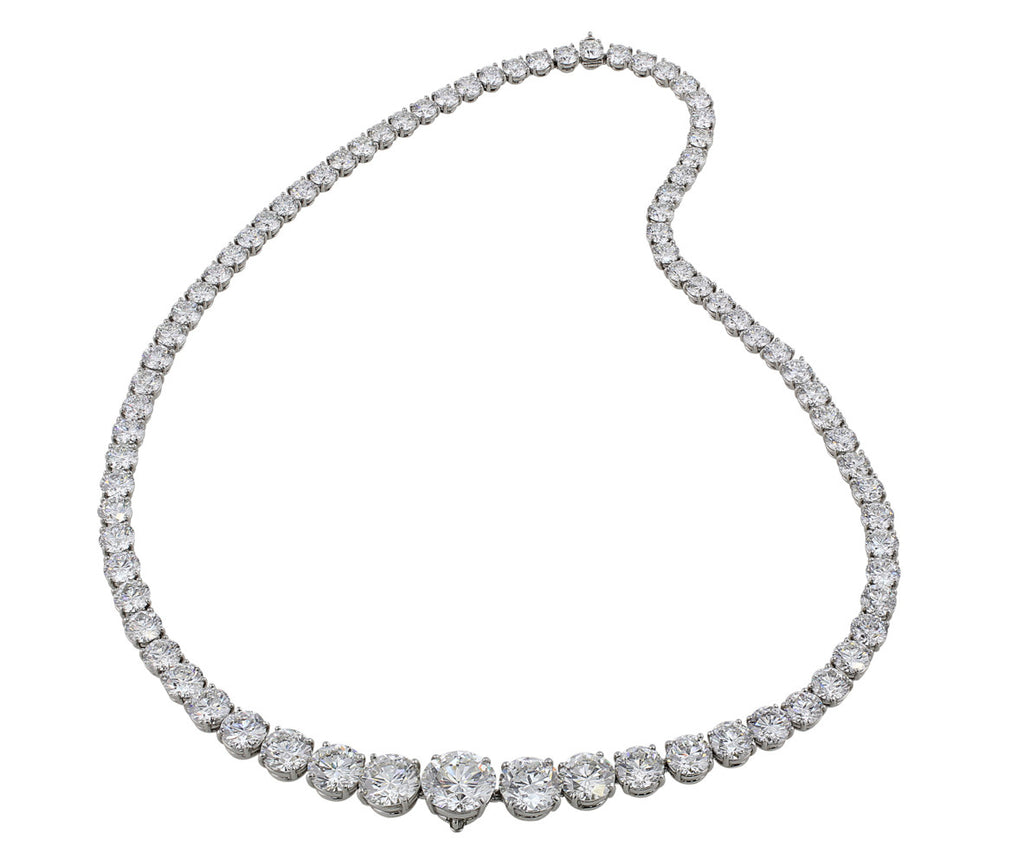 graduated f link cttw diamond cut round white gold g vs tennis si shiny necklace