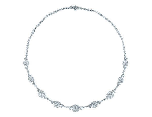 Pressure Resistant Cushion Shape Diamond Necklace
