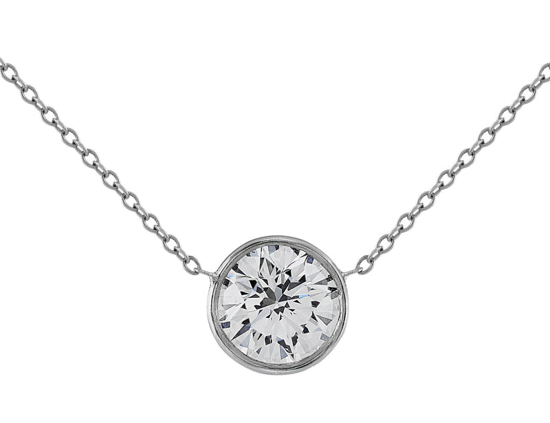 1.5ct Diamond Solitaire Necklace, Riviera collection