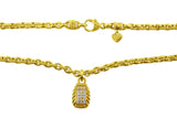 Estate Judith Ripka Yellow Gold Diamond Necklace
