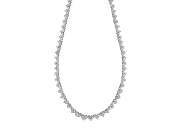 Roberto Coin Heart-Shaped Cluster Diamond Necklace
