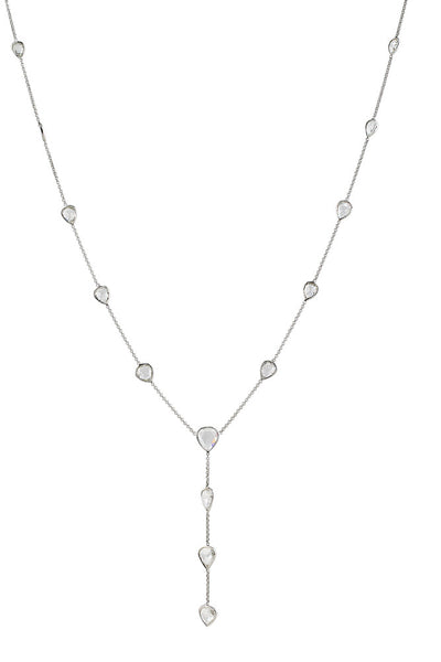 Rose Cut Diamond Platinum Necklace