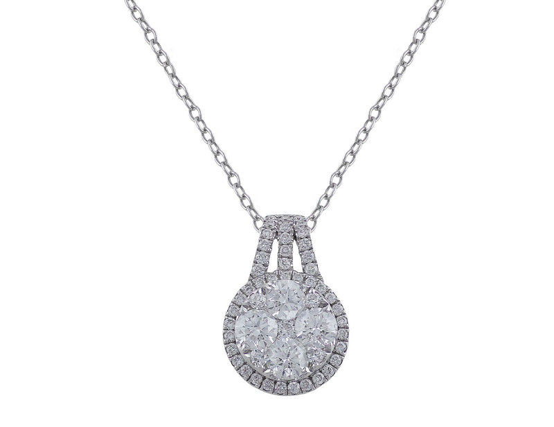 Round White Gold Diamond Pendant