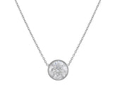 18kt White Gold Riviera Solitaire Diamond Necklace
