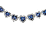 Heart Shape Sapphire Diamond Necklace