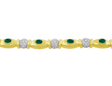 Emerald and Diamond Yellow Gold Necklace