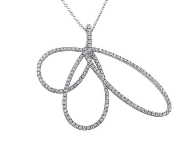 Estate 18kt White Gold Diamond Pendant
