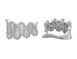 18k White Gold and Diamond Wave Earrings