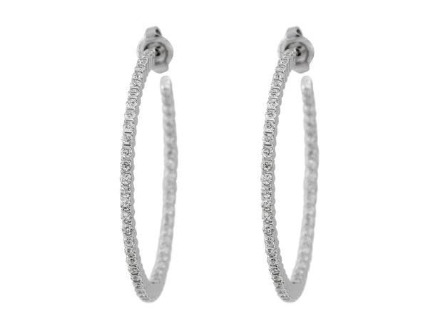 1.94ct Diamond Hoop Earrings