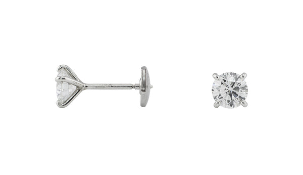 1.2ct Diamond Studs set in platinum