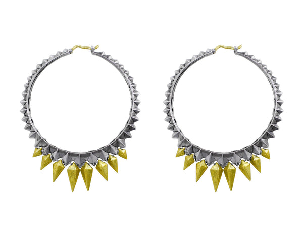 Stephen Webster Studded Spike Hoop Earrings