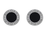 Bulgari Bulgari Round Onyx Post Earrings