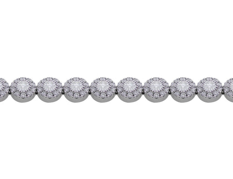 18k White Gold Delicate Diamond Bracelet