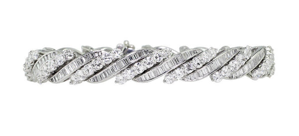 Estate Swiss Made Platinum Diamond Bracelet