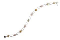 Fancy Color Floral Diamond Bracelet